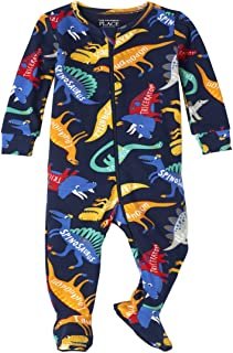 The Children's Place 男童婴幼儿恐龙舒适贴身棉质连体睡衣