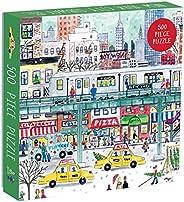 Galison Michael Storrings 500 片纽约市成人和家庭拼图,纽约冬季风景假日拼图(错误:#N/A)