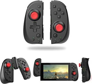 Wireless Switch Joy Con 控制器,Vivefox 人体工程学开关控制器 L/R 替换 Joycon 带手柄连接涡轮增压器,陀螺轴,替代 Joy-con 适用于 Switch & Lite 遥控游戏手柄 黑色