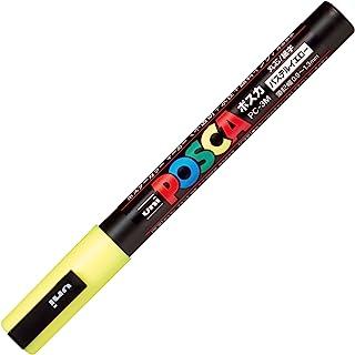 三菱铅笔 水性笔 POSCA 细字 圆芯 粉彩笔 柔和黄 10支