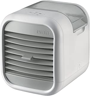 HoMedics MyChill 2人空间冷却器,冷却室温高达 7 度,1.2 米冷却区,2 个风扇速度,可调节百叶窗,清洁水箱技术,非常适合办公室、休息室、卧室 - 白色