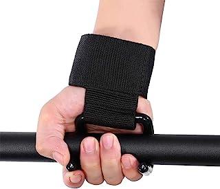 Wbestexercises 举重训练护腕绷带挂钩,健身钩握把,黑色