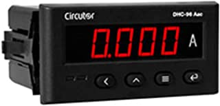 数字电流表 DHC-96 ADC,96 x 49,2 个输出继电器,5 x 4.9 x 9.6 厘米,黑色(参考:M22378)