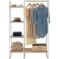IRIS OHYAMA 衣架 带置物架 1件 宽101×深40×高150厘米 白色 PI-B3 风格衣架
