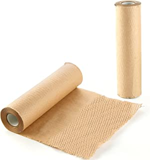 蜂窝纸,蜂窝包装纸,蜂窝包装卷,用于包装移动,用于包装和移动运输脆弱物品,可降解堆肥(一卷 12x1300 英寸)