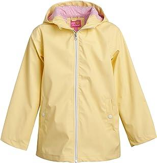 Pink Platinum 女童防雨夹克 - 轻质防水风衣雨衣带兜帽