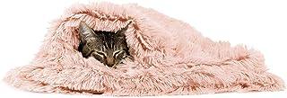 Sheri Best Friends 豪华狗和猫毛毯 76.20x101.64 厘米,棉花糖,配套甜圈长毛绒床,多用途,垫子,沙发套,保暖,PTB-SHG-CDY-3040