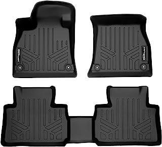 SMARTLINER 全天候定制贴合黑色 2 排地板垫衬垫套装兼容 2019-2022 奥迪 E-Tron/E-Tron Sportback(仅适用于没有*二排保留)
