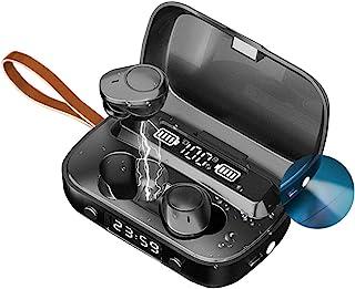 IVY 无线耳塞入耳式运动耳机,IPX7防水/蓝牙v5.1/HiFi音质/2000mAh充电外壳/麦克风 - 黑色