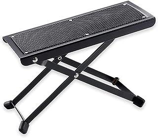 Guitar Foot Stool 高度可调节橡胶端盖和防滑实心支撑