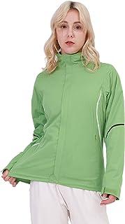 女式高尔夫防雨夹克防水透气风衣轻质雨衣,适合跑步、远足、骑行、露营