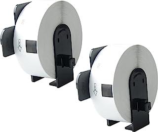 Aomya 2 卷 DK-1201 模切标准地址标签 1-1/7 英寸 x 3-1/2 英寸 29 毫米 x 90 毫米 带可重复使用墨盒 兼容兄弟 QL 标签打印机 QL-500 QL-550 QL-560 QL-570 QL-650TD Q...