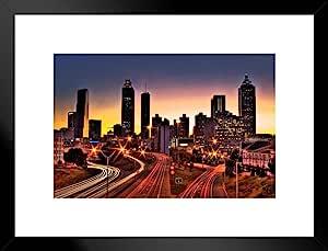 海报 Foundry 亚特兰大乔治亚州天际线图案 来自 ProFrames 哑光框架海报 26x20 inches 248059