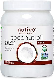 Nutiva 冷榨初榨椰子油,54盎司/1.6升