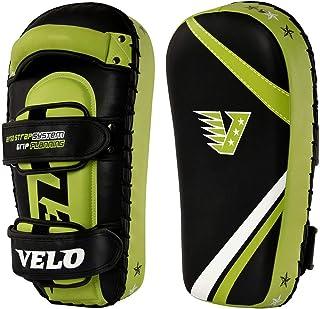 VELO Muay 泰拳手臂垫弯曲超细纤维皮革防护聚焦打孔器(仅 1 个垫子)