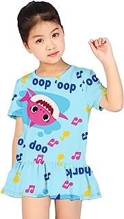 Euiyi 夏季女孩 3D 印花时尚可爱卡通连衣裙,泡泡裙,鱼尾裙。