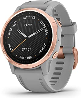 GARMIN 佳明 Fenix 6S 蓝宝石 多功能运动 GPS 手表 玫瑰金色调 粉灰色表带