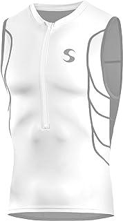 Synergy 男式 Elite Tri 背心式汗衫 (白色/灰色,2XL)
