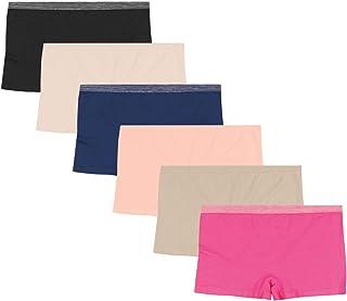 Hanes 女式舒适弹性无缝平角内裤 6 条装