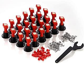 MINGPINHUIUS *瓷砖调平系统套件,含 24 个带水平仪的瓷砖调平器垫片,1 个特殊扳手,可更换瓷砖安装配件工具套件,用于建筑,如建筑