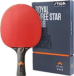 STIGA 男女通用皇家 3 星 WRB 乒乓球拍,黑色/红色,均码