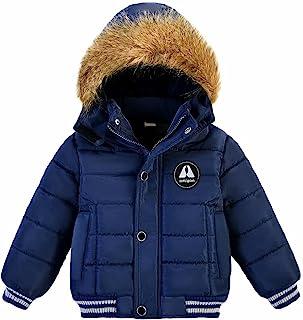 AMIYAN 幼童男孩女孩羽绒夹克连帽加厚保暖冬季防雪外套外套