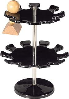 Maul 圆形印章架,适用于 18 个印章,金属,防刮,可旋转,140 毫米宽,190 毫米高度,2 层,黑色