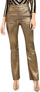 INC International Concepts 金属色喇叭裤金色