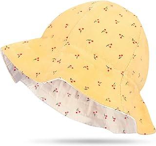 Tonfant 女婴遮阳帽夏季婴儿帽 UPF 50+ *幼儿沙滩帽宽边渔夫帽