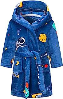 女童浴袍幼儿儿童连帽长袍法兰绒睡衣,适合儿童女孩