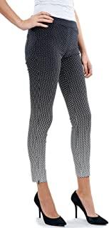 Joseph Ribkoff 黑色修身长裤带白色波尔卡圆点风格 172784
