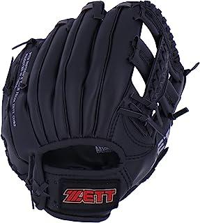 "ZETT少年棒球 软式 手套 全圆形 初学者用 附带减震垫 10.5"" (小学生用) 黑色 BDG2112"