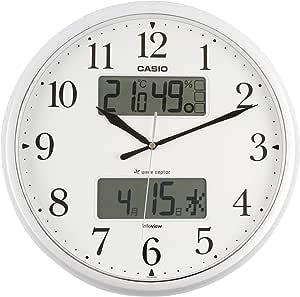 Casio 卡西欧 温度、湿度计、带夜视灯生活环境通知挂钟 珍珠银 ITM-660NJ-8JF