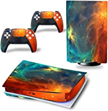 PS5 控制台和控制器皮肤适用于 Playstation 5 盘版本,Galaxy PS5 控制台和控制器皮肤乙烯基贴纸贴花盖