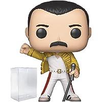 Funko Rocks:Queen - Freddie Mercury Wembley 1986 公仔! 乙烯树脂人形玩…