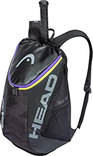 HEAD Tour Team 网球背包 2 个球拍携带包 带软垫肩带和鞋隔层 - 黑色/紫色