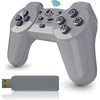 JoyRetro 2.4ghz 无线控制器,适用于 PlayStation 经典迷你 [TURBO 版] 涡轮按钮,适用…