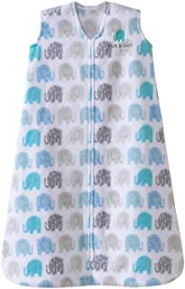 HALO 赫拉 婴儿安全睡袋 背心式 超细摇粒绒 布纹小象 L(12-18个月) 秋冬厚款