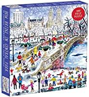 Galison 500 片 Michael Storrings 中部公园拼图,适合成人和家庭,纽约市拼图带中央公园风景