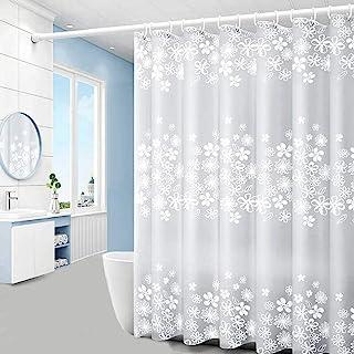 浴帘内衬 182.88 厘米宽 x 182.88 厘米高,PEVA 浴帘带挂钩,防水浴帘内衬