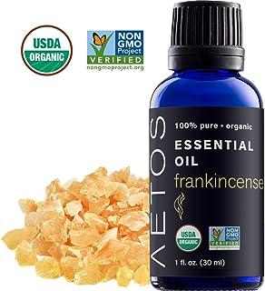 Aetos Organic Frankincense 油,USDA 认证的有机精油,非转*,* 纯净,天然,*级精油,*佳芳香*香味,适于家庭、办公室、个人使用 - 28.35 g