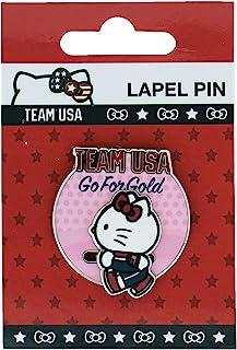 2020 年夏季奥林匹克队美国 Hello Kitty 田径赛道和场地去金色滑块翻领别针 | 背面卡| 官方*
