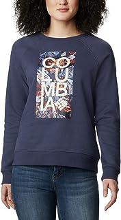 Columbia 女士 Hart Mountain 图案圆领衫