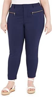 Michael Kors 迈克高仕 加大码 拉链口袋紧身长裤 *蓝 14W