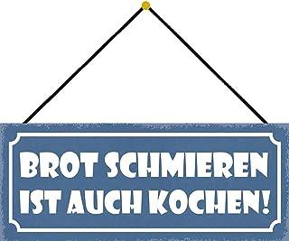 Schatzmix 面包润滑是烹饪金属铭牌 27x10 装饰锡牌,金属牌,金属板,多色,27x10 厘米