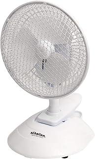 Schallen 6 英寸(约 15.2 厘米)迷你小电风扇夹,适用于家庭、床、办公室、台式机、桌子和书桌,带 2 档速度设置和安静操作(白色)