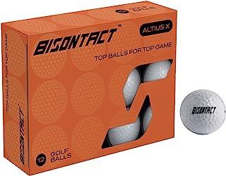 Bisontact ALTIUS X 高尔夫球 12 件装 - 十打高尔夫球,获得*的 408 凹坑设计,提供*佳飞行理想高尔夫礼物送给男女