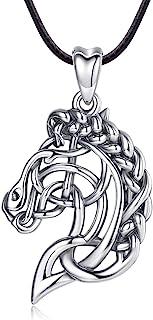 CELESTIA 凯尔特马头项链女式纯银吊坠马饰品送给女孩骑马和骑马爱好者的礼物