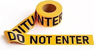 """PE 警示胶带,2.0 密耳 x 1000 英尺 x 3 英寸,黄色胶带带""""Caution DO NOT Enter""""黑色印花"""