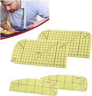 XIDAJIE 4 件热烫尺拼接裁缝工艺高温阻力尺DIY缝纫用品测量手工工具